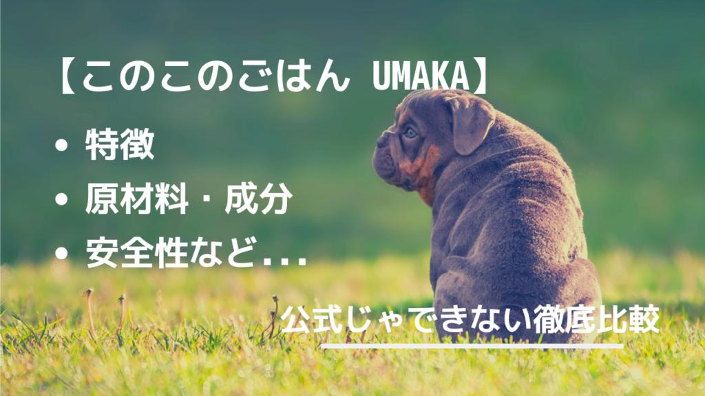 このこのごはん umaka 比較